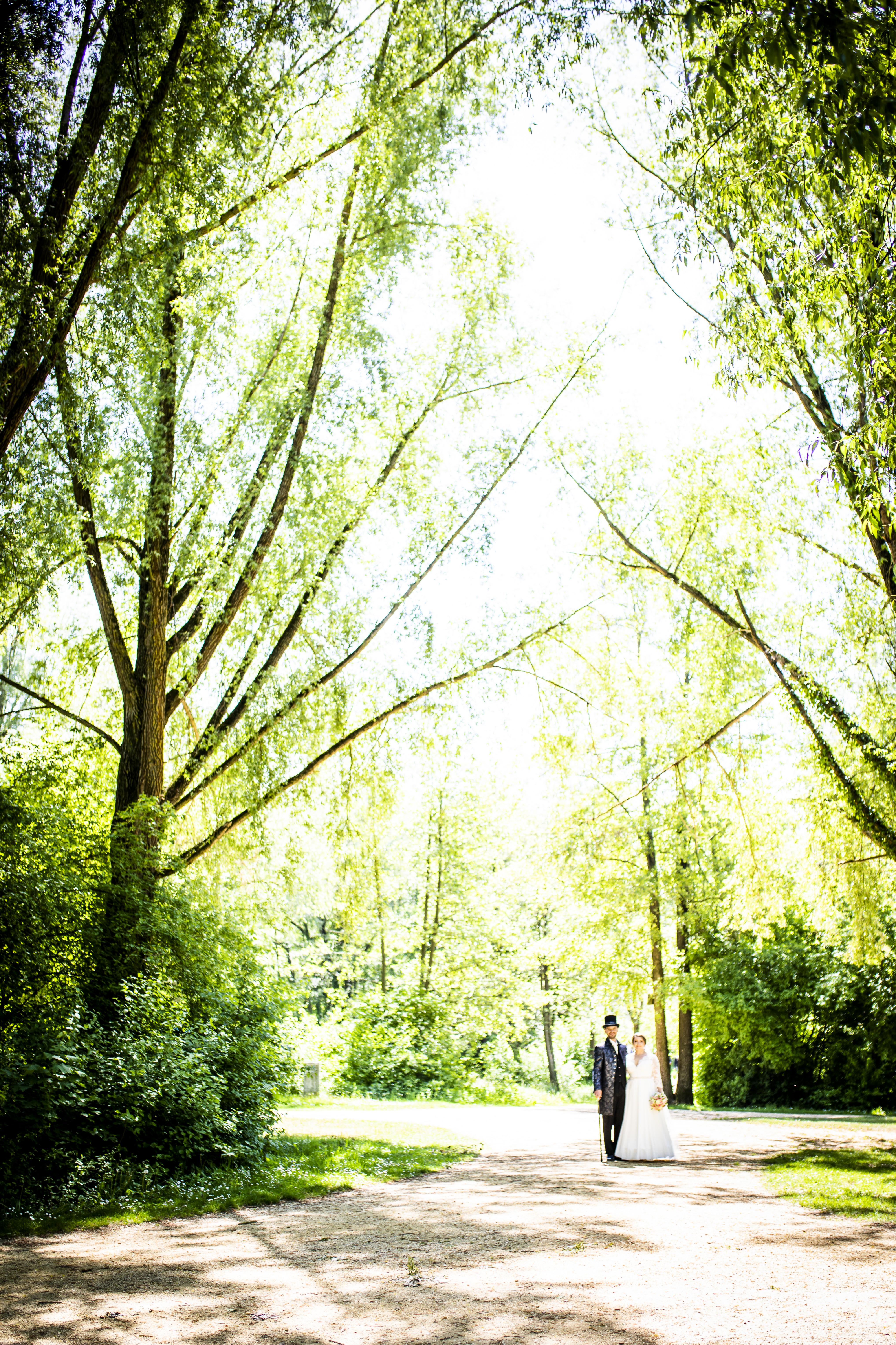 Ein Hochzeitbild eines Brautpaars entstanden in Straubing |KK-Fotografie
